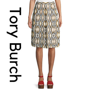 Tory Burch Faye Diamond Print Culotte Trousers NWT